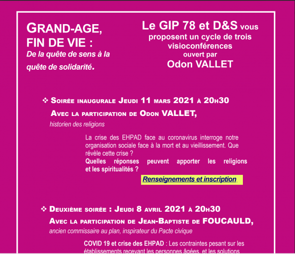 CONFERENCE 11 MARS 2021 AVEC Odon Vallet