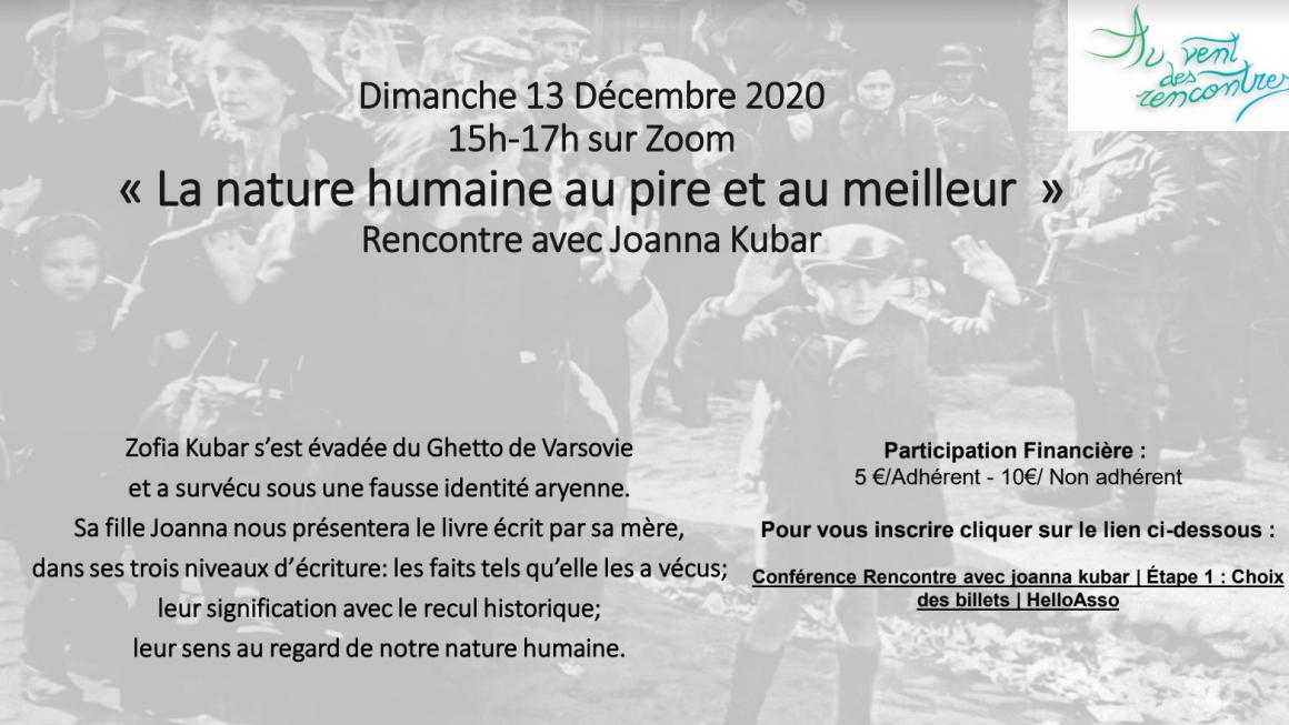 Image de l'invitation avec Johanna Kubar