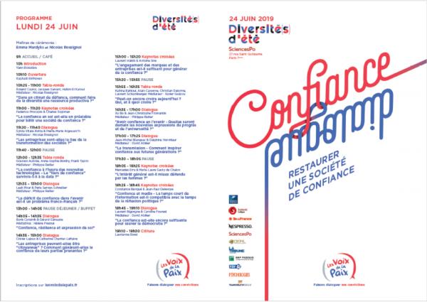 INSCRIPTION A «DIVERSITÉ(S) D'ÉTÉ 2019″#2e EDITION