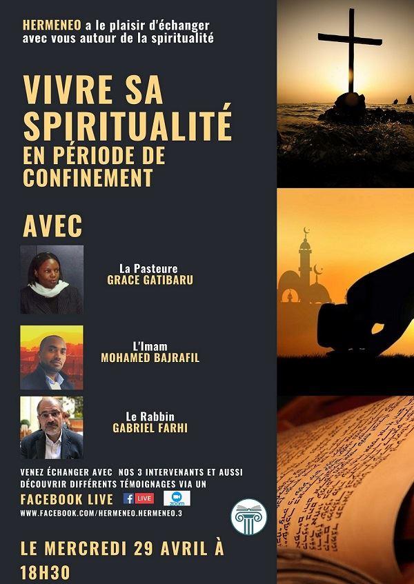 WEBINAIRE HERMENEO MERCREI 29 AVRIL : VIVRE SA SPIRITUALITE EN PERIODE DE CONFINEMENT